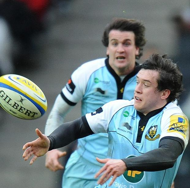 Jamie Elliott's superb hat-trick helped Northampton to a comfortable win