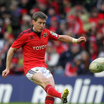 Ronan O'Gara kicked two penalties and a conversion for Munster