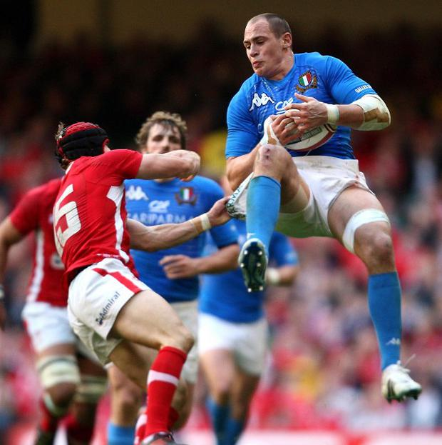 Sergio Parisse, right, has had his ban reduced on appeal