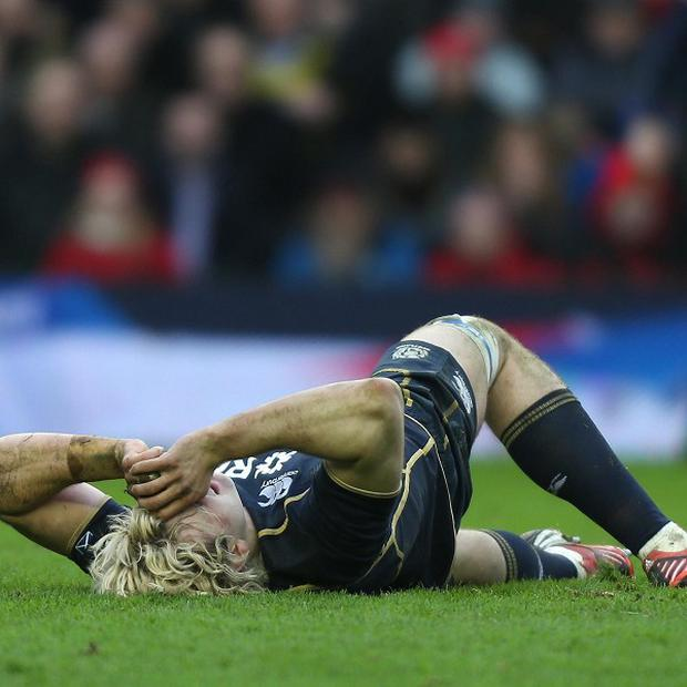 Richie Gray suffered a hamstring injury on Saturday
