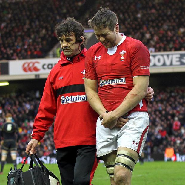 Ryan Jones, right, will miss Wales' all-important clash with England due to a shoulder injury