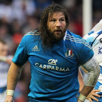 Italy will be without the injured Martin Castrogiovanni against Ireland