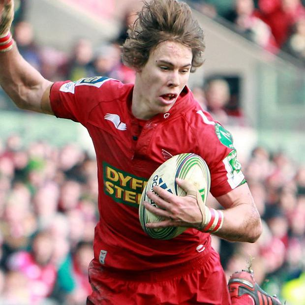 Liam Williams, pictured, and Joe Snyman scored a try apiece as Scarlets won at Zebre