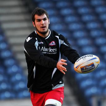 Stuart McInally, pictured, crossed over and Piers Francis kicked three penalties for Edinburgh