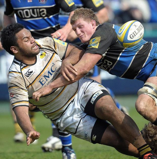 Stuart Hooper, right, is relishing Bath's cup showdown with Stade Francais