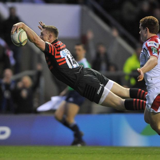 Chris Ashton crosses for Saracens' second try
