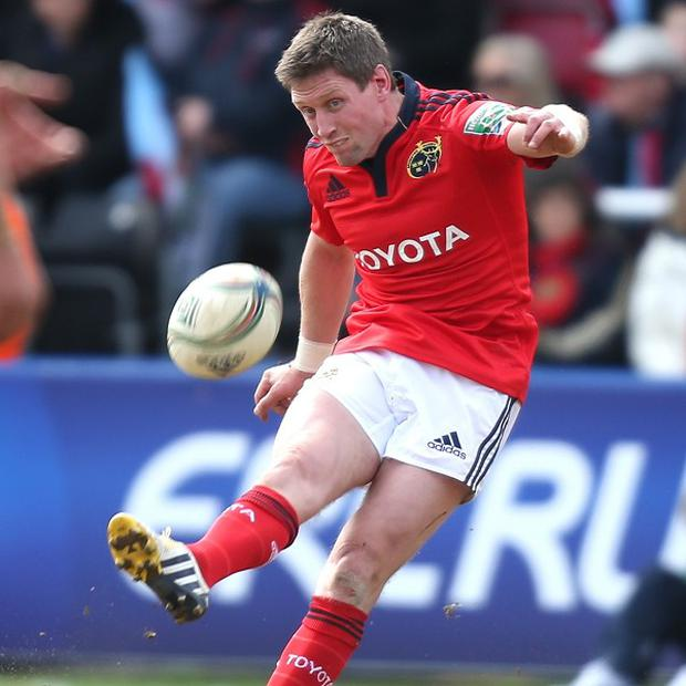 Ronan O'Gara scored all of Munster's points to send them into the final four