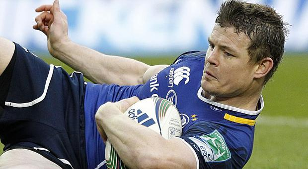 Brian O'Driscoll scored Leinster's only try