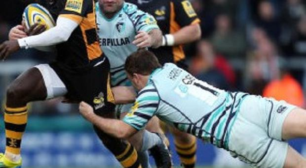 Jonny Harris, right, is one of three Leicester Tigers players who will join London Irish