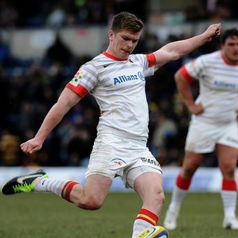 Owen Farrell is set to play in his first Heineken Cup semi-final on Sunday