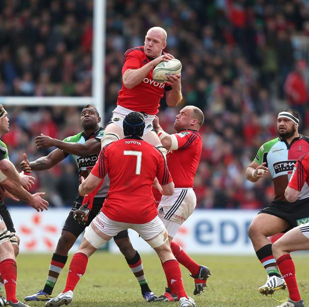 Paul O'Connell, centre, produced a superb display against Harlequins