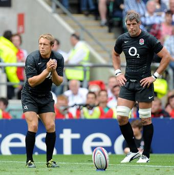 Jonny Wilkinson, left, made 42 appearances for England at Twickenham