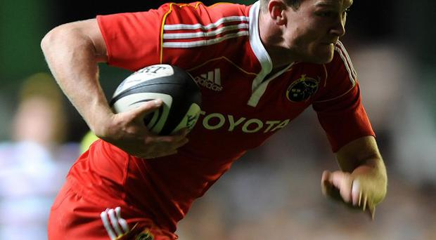 Denis Hurley scored Munster's solitary try