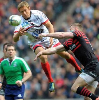 Jonny Wilkinson, left, told Warren Gatland he could not commit to the Lions tour