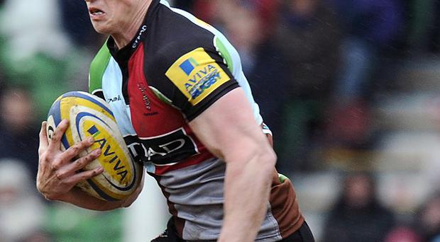 Tom Williams scored one of Quins' three tries