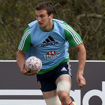 Sam Warburton is happy to fight for a place in the Lions' starting line-up