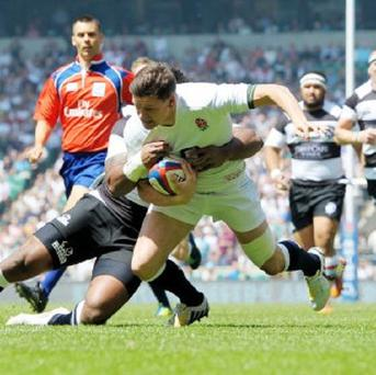 Freddie Burns was pleased with his contribution against the Barbarians