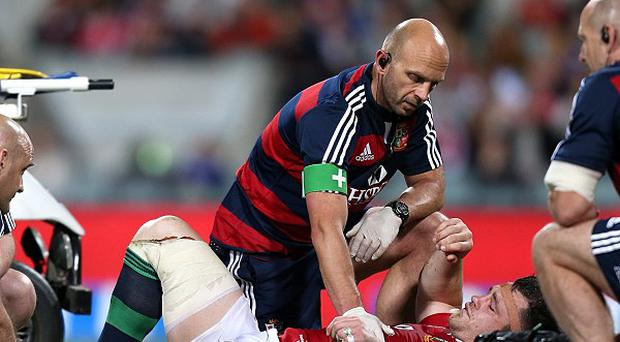 Cian Healy sustained an ankle injury as the British and Irish Lions defeated Western Force