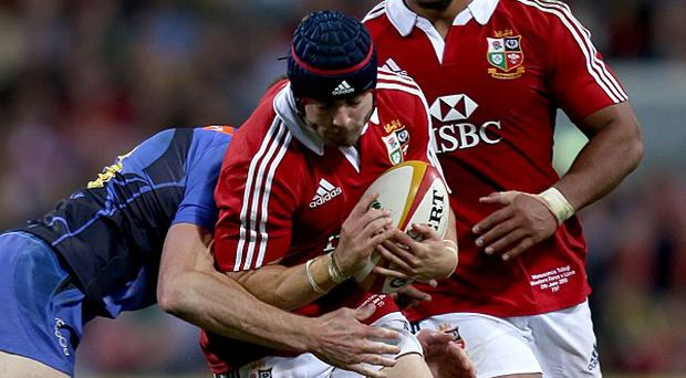 Leigh Halfpenny, centre, delivered a devastating display of accuracy against Western Force, booting nine conversions and two penalties