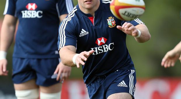 Tom Youngs, centre, is relishing playing for British and Irish Lions
