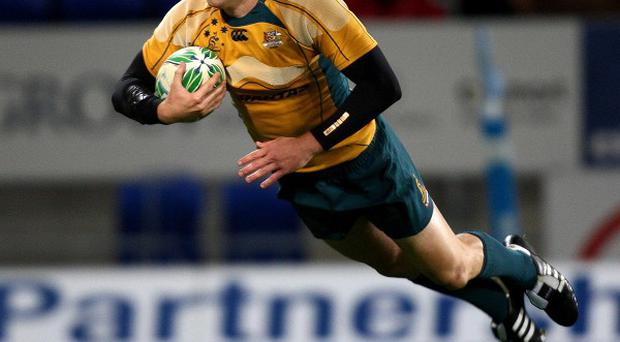 Luke Morahan, pictured, comes in as a replacement for Brumbies winger Joe Tomane