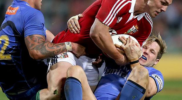 George North, centre, has shrugged off a hamstring problem