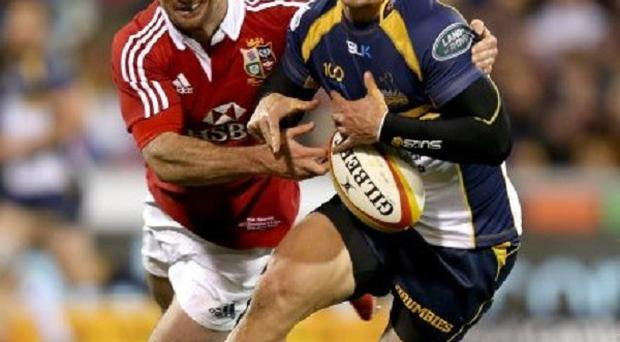 Rob Kearney, left, made his first start for six weeks against the Brumbies