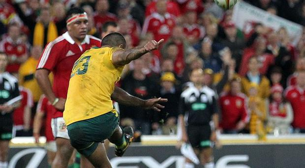 Kurtley Beale missed two late penalties which would have won the game for Australia