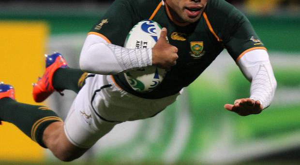 Bryan Habana moved to joint fifth in the Test try-scorers standings with his 50th against Samoa