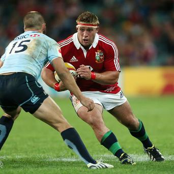 Tom Youngs made his Lions Test debut on Saturday