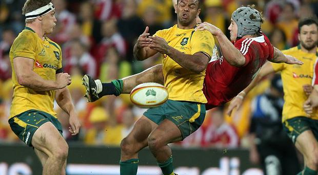 Kurtley Beale, second left, will be looking to make amends for his missed penalties in the first Test