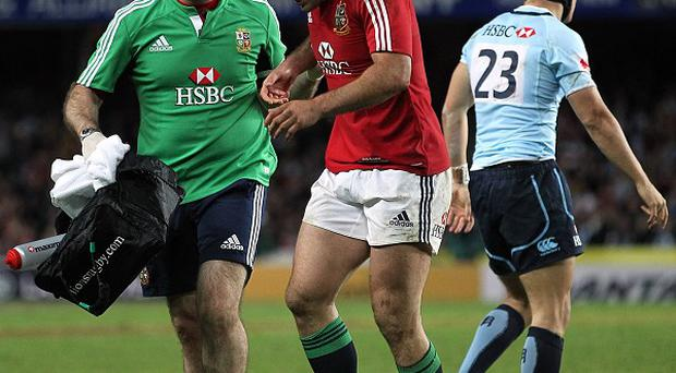 Jamie Roberts, centre, could return to full training on Wednesday