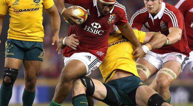 Mako Vunipola was penalised twice during scrums in the first half of the second Test