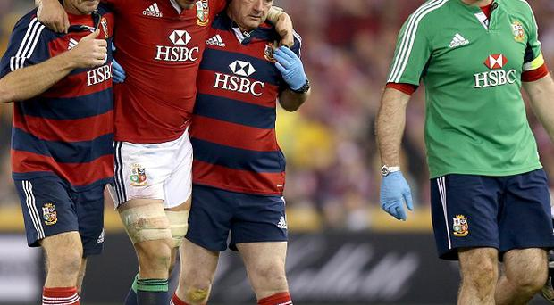 Sam Warburton, second left, will not play in Saturday's decider