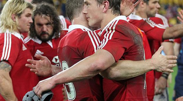 Jonathan Davies, right, has praised Brian O'Driscoll, left