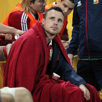 Tommy Bowe, pictured, has praised Brian O'Driscoll's influence around the Lions squad