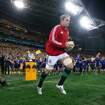Alun-Wyn Jones, right, captained the British and Irish Lions in the third Test