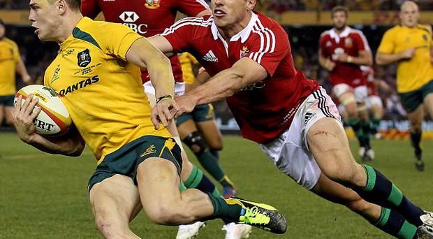 James O'Connor, left, conceded the Lions deserved to win the Test series