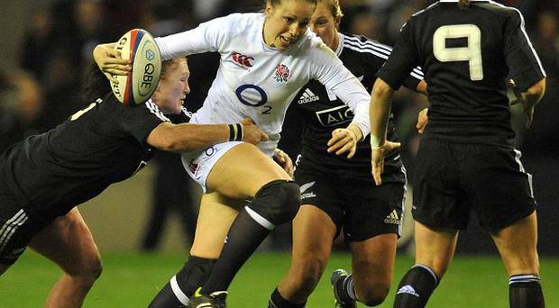 Emily Scarratt, centre, scored a conversion and a penalty for England