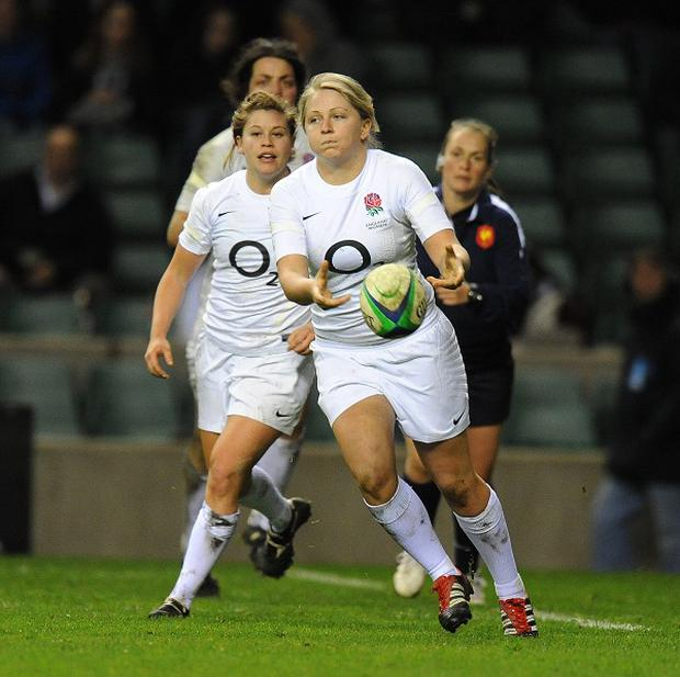 England scored three tries through Lydia Thompson, Zoey Saynor and Ceri Large, pictured, but it was not enough