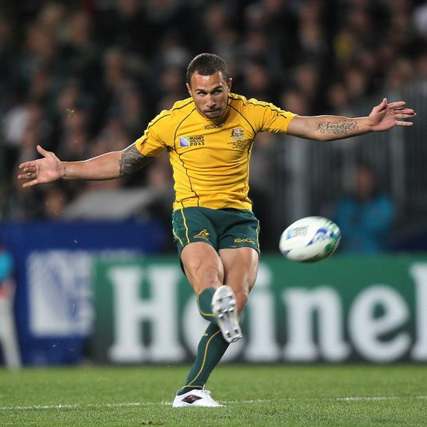 Quade Cooper has not played for Australia for almost a year