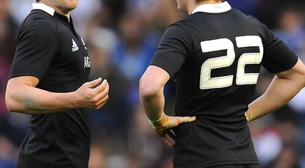 Ben Smith, left, produced a superb display for the All Blacks