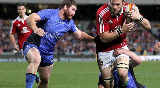 James Hilterbrand, left, played against the British and Irish Lions earlier this summer
