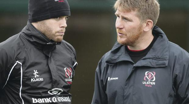 Testing times: Darren Cave and Jonny Bell will be looking to plot a return to form ahead of the game against Connacht