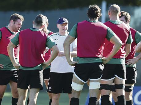 My way: Joe Schmidt commands the full attention of his Irish squad during a training camp in Kildare