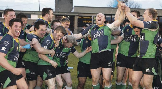 Big challenge: Ballynahinch celebrate Ulster League success but much tougher tests await this season