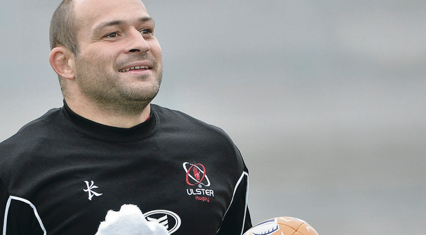 Clean break: Rory Best, in training yesterday, can't wait to get back into action for Ulster tonight