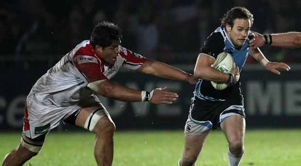 Back row Nick Williams, left, has agreed a new deal with Ulster.