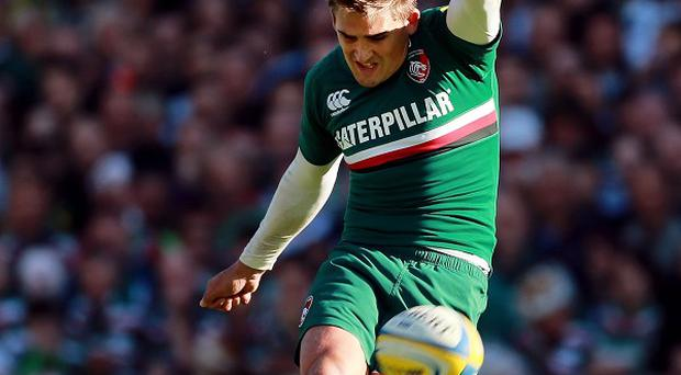 Leicester fly-half Toby Flood, pictured, kicks the Tigers to a 19-19 draw with rivals Northampton