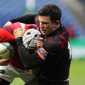 Centre Matt Scott will return to the Edinburgh line-up for Saturday's match with Munster